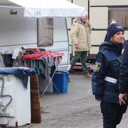 Bione, camper e roulotte  Il sopralluogo della polizia
