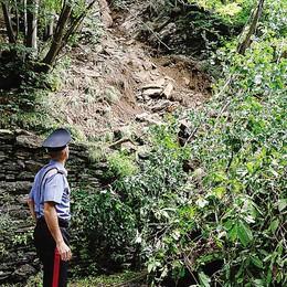 Frana di Pagnona, chiuso il sentiero  Allarme per altri smottamenti in zona