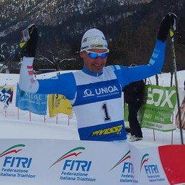 Tricolori di Winter triathlon  Antonioli ha centrato il titolo