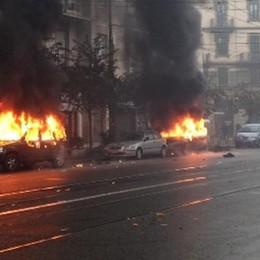 Expo, la guerriglia in centro  Dieci i manifestanti fermati