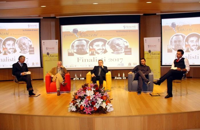 Da sinistra Ermanno Paccagnini,  Gianfranco Calligarich , Eraldo Baldini, Valerio Callieri e Stefano Motta
