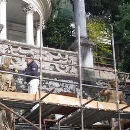 Studenti al lavoro  per Villa Monastero