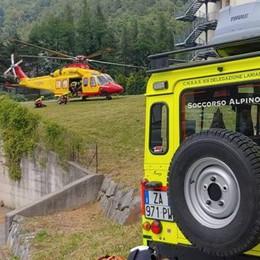 Introbio, precipita sui monti  Soccorso con l'elicottero