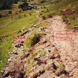Strada abusiva in Val Biandino  «Doveva essere solo manutenzione»