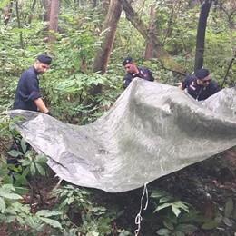 Inverigo, market della droga nel bosco  Sotterrati un etto di eroina e cocaina
