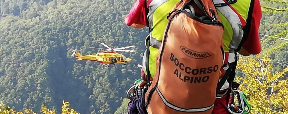 Barzio, cade dalla ferrata  Soccorso con l'elicottero