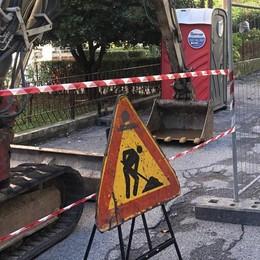 Merate, via Pascoli: si parte  Sono iniziati i lavori attesi da decenni