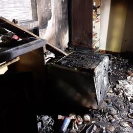 Incendio a Calolziocorte  Una donna in ospedale